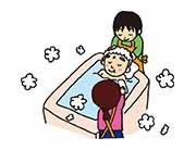 自宅でもできる入浴などの清潔ケア