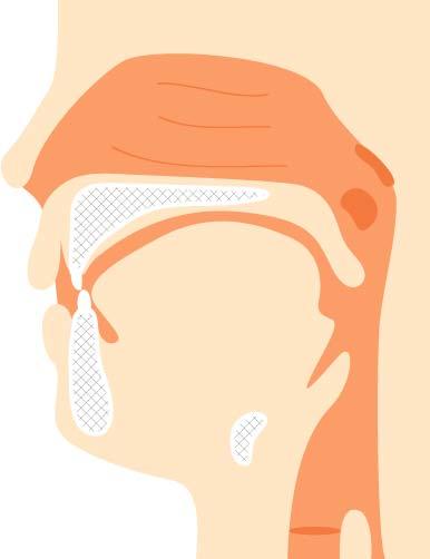 人工喉頭を使用している高齢者
