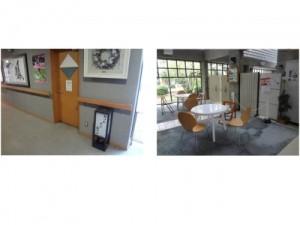 カットサロン(理容室)と談話スペース