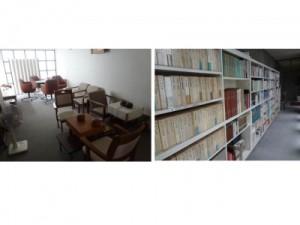 娯楽室と図書コーナー
