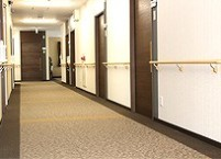 共用廊下 床暖房が設置されています