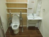 居室内洗面・トイレ  車イスの方も安心してご利用いただけます。