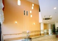 高級感のある吹き抜けのエントランスホール。