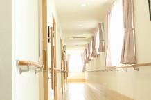 窓が多く明るい廊下