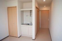 居室 クローゼットとミニキッチンも備え付けております。